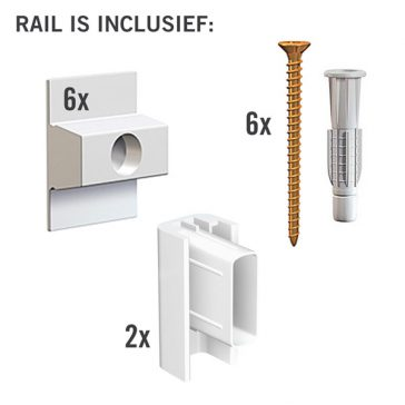 MONTAGESET CLICK RAIL WIT 200 CM