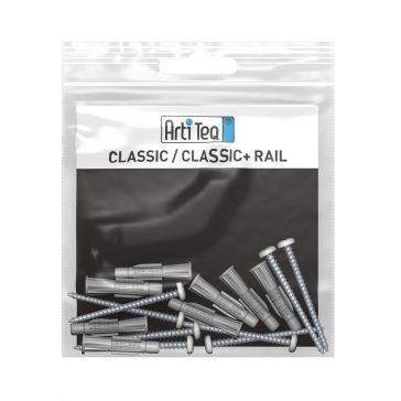 montageset classic rail 300 cm alu