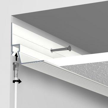 ceiling strip montage