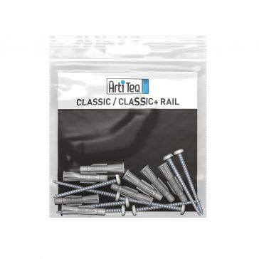 montageset classic rail wit 200 cm