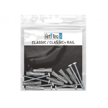 montageset classic rail alu 300 cm