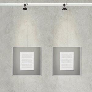Schilderij ophangsysteem met verlichting: Combi Rail Pro Light ...