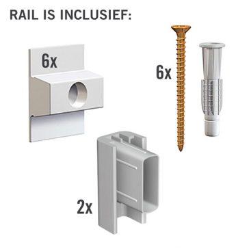 MONTAGESET CLICK RAIL WIT PRIMER 2M