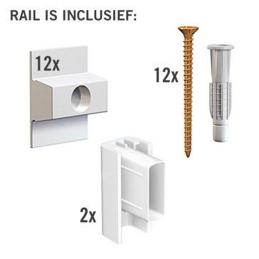 MONTAGESET CLICK RAIL WIT 4M
